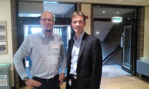 Dr. Ioniță și Dr. Declan Costello, medic consultant ORL la spitalul Queen Elisabeth din Birmingham